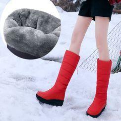 Cinnabelle - Platform Knee-High Snow Boots
