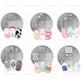 LUCKY TRENDY - Crayon Nail Stamp - 7 Types