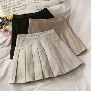 Lemongrass - Minifalda plisada de tiro alto
