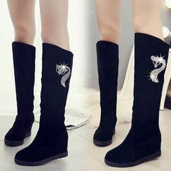 Wello - Hidden Wedge Knee High Boots
