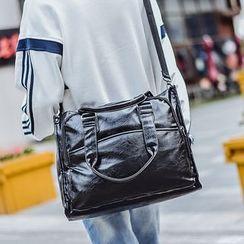 SUNMAN - Faux Leather Briefcase