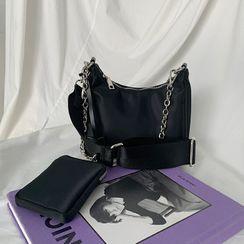 DABAGIRL - Zipped Fabric Cross Bag & Pouch