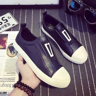 Solejoy - Paneled Slip-On Sneakers