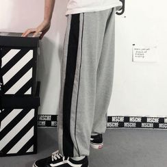 INStudio - High-Waist Striped Sweatpants
