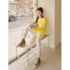 J-ANN - Pocket-Front Oversized T-Shirt