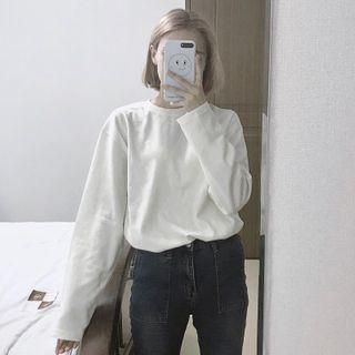 IndiGirl - Long Sleeve Plain T-Shirt