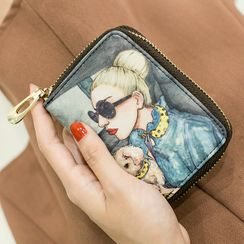 Tambrae - Printed Faux Leather Card Holder