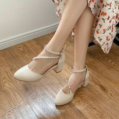 Kireina - Block Heel Ankle Strap Sandals