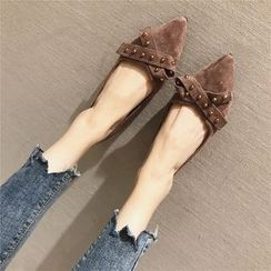 The Shoe House - 鉚釘絲帶輕便平跟鞋