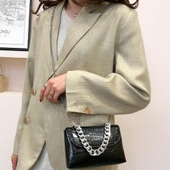 Faneur - Textured Chain Strap Crossbody Bag