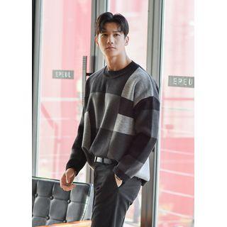 GERIO - Color-Block Oversized Sweater