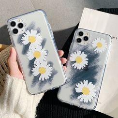 Hachi - Floral Print Phone Case - iPhone 7 / 7 Plus / 8 / 8 Plus / X/ XR / XS / XS MAX / 11 / 11 Pro / 11 Pro MAX