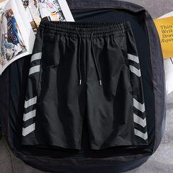 Bay Go Mall - Striped Wide-Leg Shorts