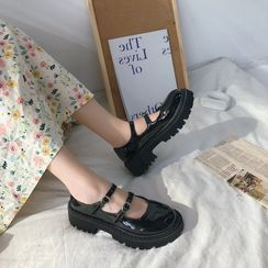 Snowflick - Platform Mary Jane Flats