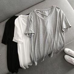 Clitoria - Short-Sleeve V-Neck T-Shirt