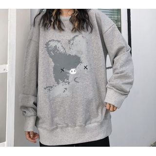 Juku Girls - Rabbit Print Sweatshirt