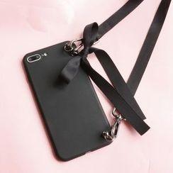 SOCLOSE - 蝴蝶结颈带手机保护套 - iPhone XS  /  X  /  8  /  8 Plus  /  7  /  7 Plus  /  6s  /  6s Plus  /  OPPO  /  vivo