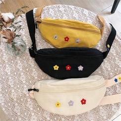 Shinshine - Flower Embroidered Sling Bag