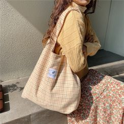 Milha - Houndstooth Canvas Tote Bag