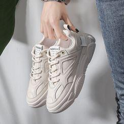 Shanhoo - 厚底粗跟休閒鞋