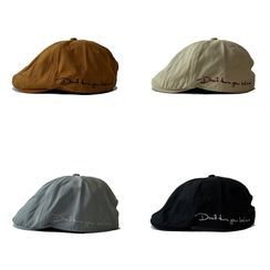 Heloi(ヘロイ) - Embroidered Lettering Flat Cap