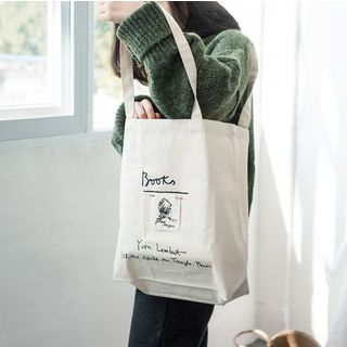 Milha - Embroidered Canvas Tote