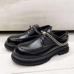 VEAZ - Chain Strap Platform Oxford Shoes