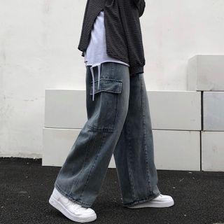LINSI - 直筒工装牛仔裤