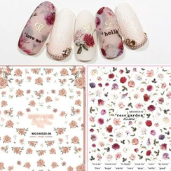 WGOMM - Flower Nail Art Stickers