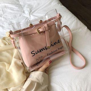 NewTown - Transparent Shoulder Bag with Pouch