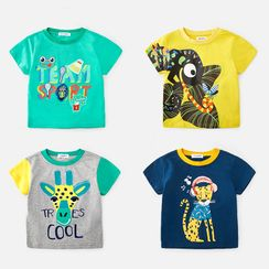 DEARIE - Kids Leopard Short-Sleeve T-Shirt