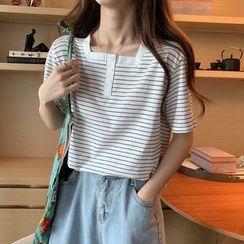 Miahynn - Short-Sleeve Striped T-Shirt