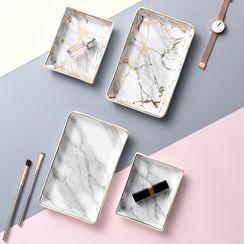 miss house - 大理石印花陶瓷桌面收納盤