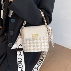 Miloes - Houndstooth Bucket Bag