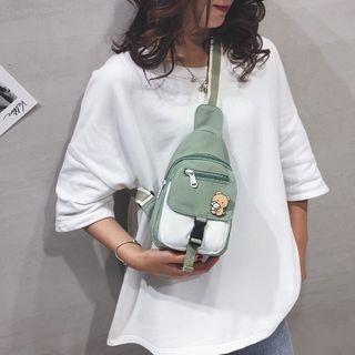 EAVALURE - Two-Tone Zip Sling Bag