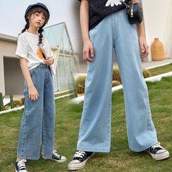 Cuckoo - 女童宽腿牛仔裤