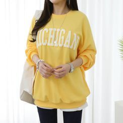 Seoul Fashion - 'MICHIGAN' Letter Sweatshirt