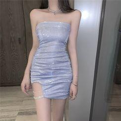 Maine - Strapless Mini Sheath Party Dress