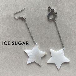 ICE SUGAR - Scallop Star Drop Earring