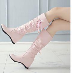 Freesia - Wedge Tall Boots