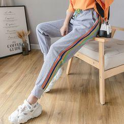 Voila - Striped Harem Sweatpants