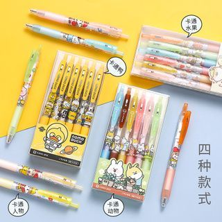 Nina's House - Set of 6: Cartoon Print Pen - 0.5 mm
