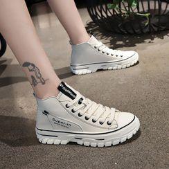 Artiz - Platform Lace-Up High-Top Sneakers