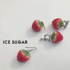 ICE SUGAR - Pendientes de fresa