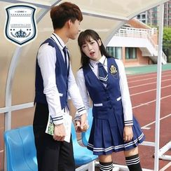 LEHNO - Couple Matching School Uniform Party Costume