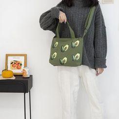 Yeyu Studio - Avocado Print Canvas Tote Bag