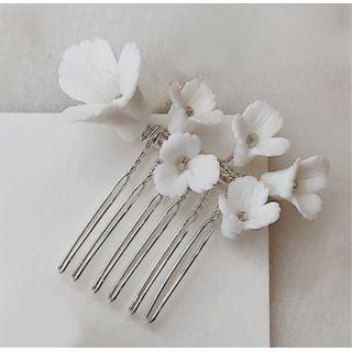 Vivian Design - Wedding Flower Hair Comb / Hair  Stick