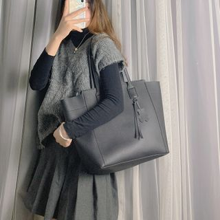 VICCI - Faux Leather Tote Bag
