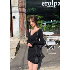 chuu - inset Cami Wrap Bodycon Dress
