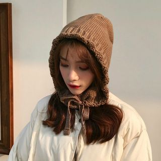 FROME(フローム) - Tie-Neck Knit Earflap Hat